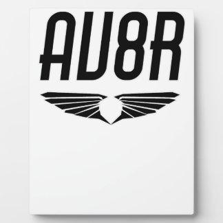 AV8R - Aviators & Pilots Wing Design Plaque