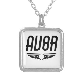 AV8R - Aviators & Pilots Wing Design Silver Plated Necklace