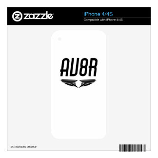 AV8R - Aviators & Pilots Wing Design Skin For The iPhone 4