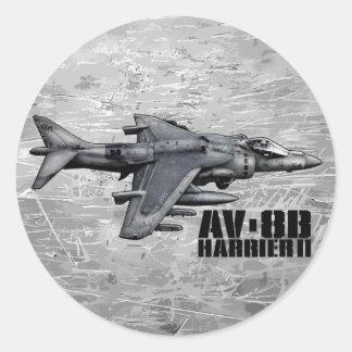 AV-8B Harrier II Classic Round Sticker