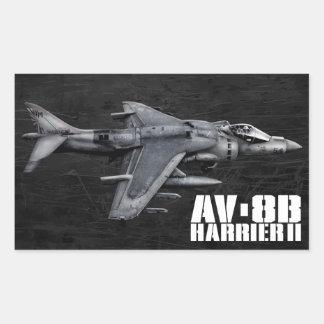 AV-8B Harrier II Rectangular Sticker