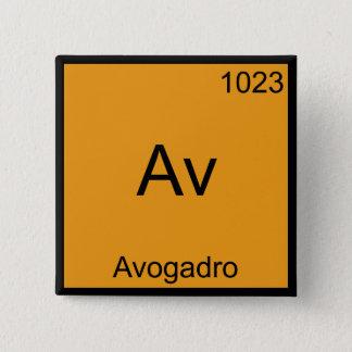 Av - Avogadro Funny Element Chemistry Symbol Tee Pinback Button