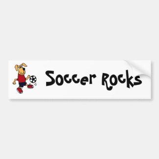 AV- Funny Dog Playing Soccer Bumper Sticker