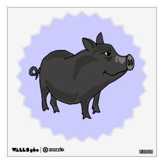 AV- Funny Pot Bellied Pig Wall Decal