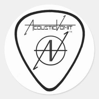 AV Guitar Pick Sticker