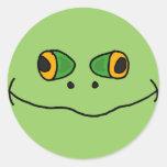 AV- Hilarious Frog Face Stickers