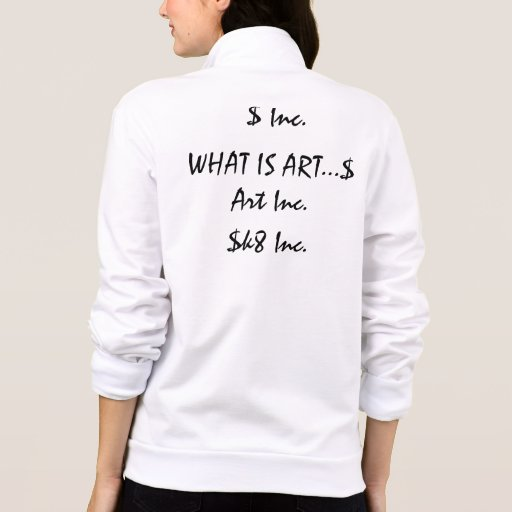 AV RELIC Inc. What is art...$ Art Inc. Printed Jackets