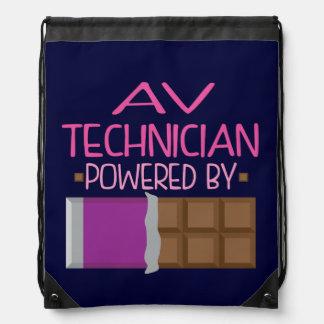 AV Technician Chocolate Gift for Woman Drawstring Bag
