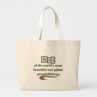 Ava de nietos dotados bolsa tela grande
