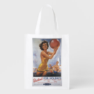Ava Gardner Look-a-like Butlin's Camps Grocery Bag