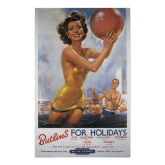 Ava Gardner Look-a-like Butlin's Camps Poster