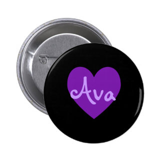 Ava in Purple 2 Inch Round Button