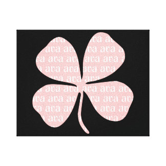 Ava Lucky Irish Pink Shamrock Digital Art Canvas Print