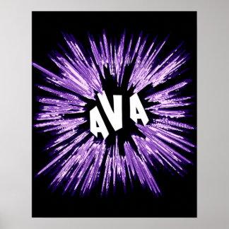 Ava Name Star Poster