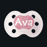 "&quot;Ava&quot; Personalized Name Sparkle Pacifier<br><div class=""desc"">Ava</div>"