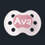 """&quot;Ava&quot; Personalized Name Sparkle Pacifier<br><div class=""""desc"""">Ava</div>"""