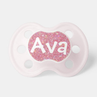 """Ava"" Personalized Name Sparkle Pacifier"