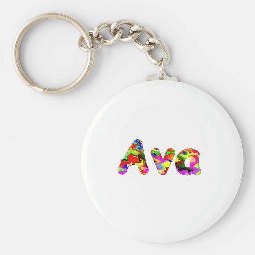 Ava round keychain basic round button keychain