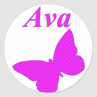 Ava Round Stickers
