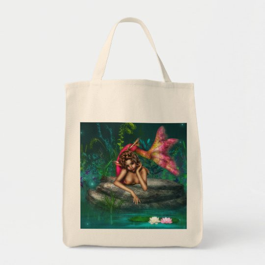 Ava the Pink Mermaid Tote Bag