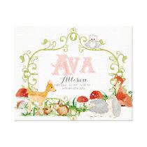 Ava Top 100 Baby Names Girls Newborn Nursery Canvas Print