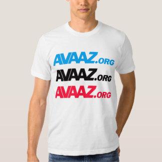 Avaaz - 3 color front, Pangea & Tagline Back Shirt