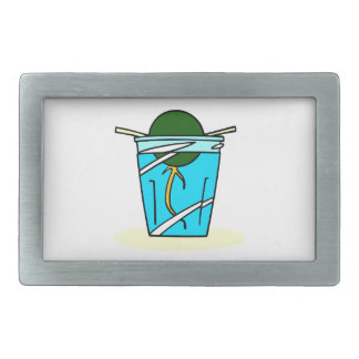 avacado abstract pit growing in water belt buckle
