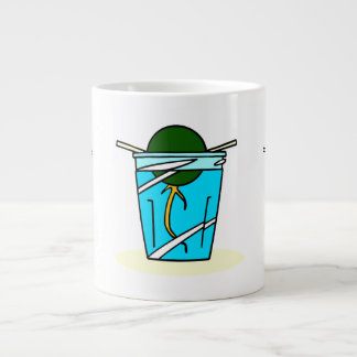 avacado abstract pit growing in water extra large mug