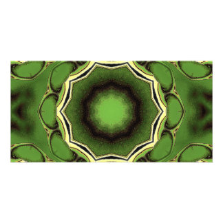 Avacado green with black color pattern card