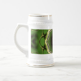 Avacado green with black lines beer stein