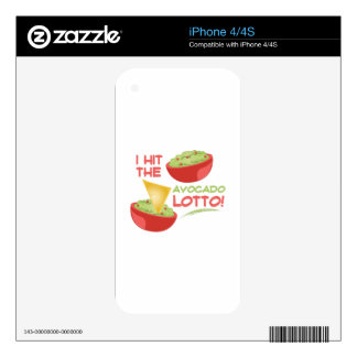 Avacado Lotto iPhone 4 Skins