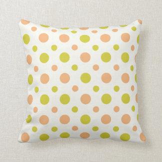 Avacado & Peach Polka Dot Retro Design Pillow