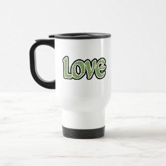 Avacado Polkadot Love mug