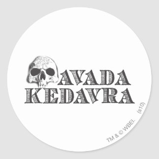 Avada Kedavra Classic Round Sticker