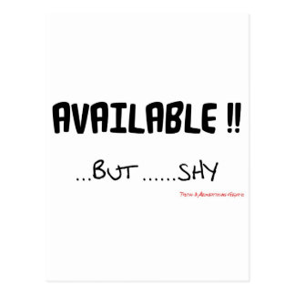 Available But Shy Postcard