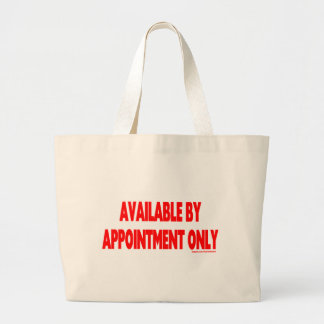 AVAILABLE BY APPOINTMENT ONLY CANVAS BAG