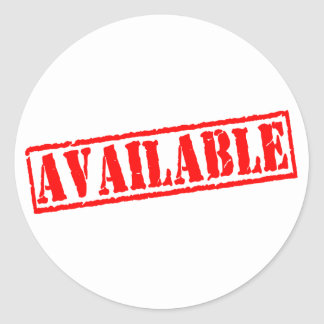 Available Classic Round Sticker