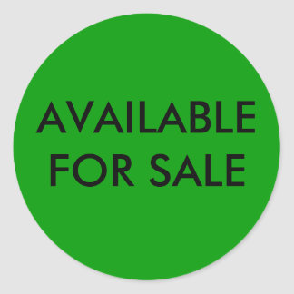 AVAILABLE FOR SALE STICKER