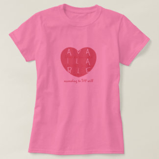 Available Heart T-Shirt