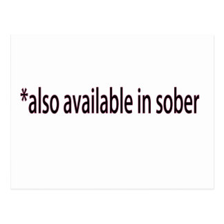 Available in Sober Postcard