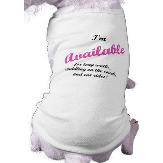 Available pet shirt