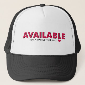 available trucker hat