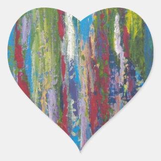 Avalancha del color pegatina en forma de corazón