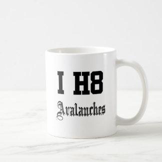 avalanchas tazas de café
