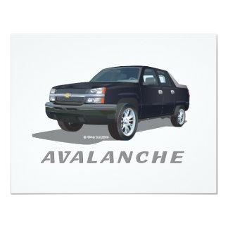 Avalanche Black 4.25x5.5 Paper Invitation Card