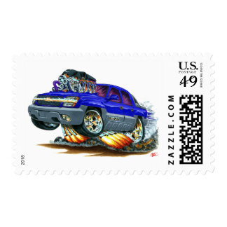 Avalanche Blue Truck Postage Stamp