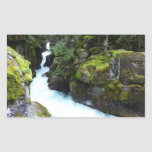 Avalanche Gorge I at Glacier National Park Rectangular Sticker