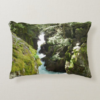 Avalanche Gorge II at Glacier National Park Accent Pillow