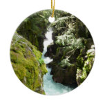 Avalanche Gorge II at Glacier National Park Ceramic Ornament