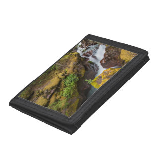 Avalanche Gorge In Glacier National Park Trifold Wallet
